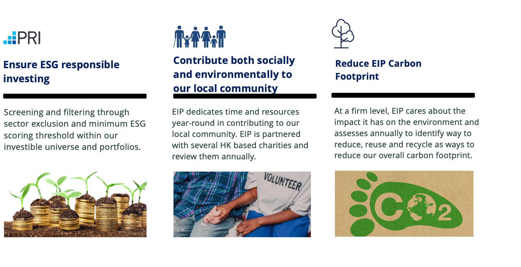 The Three Pillars of ESG at EIP